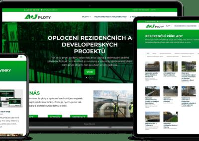 A+J ploty – webové stránky, logo, úprava textů